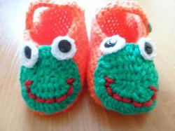 Żabka - kapcie Handmade
