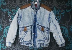 jeansowa kurtka w starej szafie!