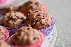Muffiny bananowo żurawinowe prawie bez cukru