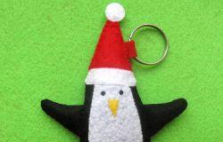 breloczek z filcu PINGWIN