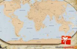 Mapa świata - zdrapka !