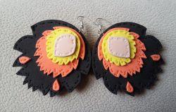 Pawie oczka - Kolczyki