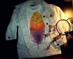 Malowana koszulka DIY może być TWOJA :)