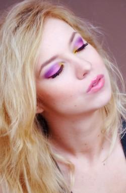 Makijaż - kocham kolory!!