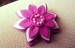 Broszka z pianki - kwiat ;)