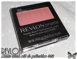 Recenzja - Revlon Matte blush róż do policzków 002
