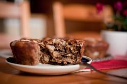 Orkiszowe Texas Muffin z bananami i czekoladą