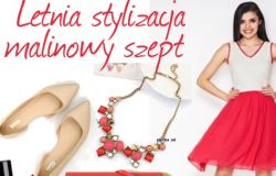 Zainspiruj się latem -letnia malinowa sukienka