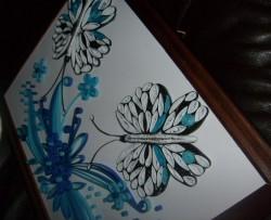 Niebieskie motyle