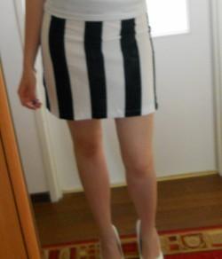 Uszyłam spódniczkę Black & White