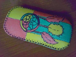 Mój ręcznie zrobiony łapacz snów ;))