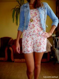 Sukienki na latoooo, kombinezon w kwiaty, buty