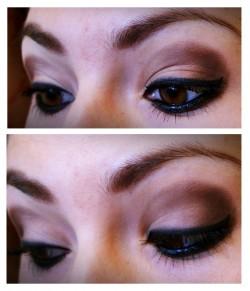 Sekret urody brązowe TRIO makijaż