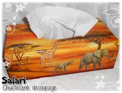 Safari - chustecznik decoupage