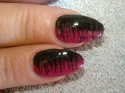 Różowo-czarne migdały