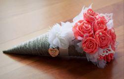 rożek z różami DIY
