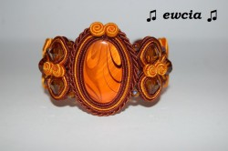Bransoletka brązowo pomarańczowa sutasz