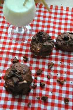 czekoladowe ciasteczka z płatkami owsianymi
