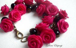 Różane bransoletki