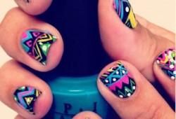 inspiracje: aztec nails