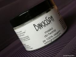 Maska do twarzy ze 100% olejem winogronowym BingoSpa