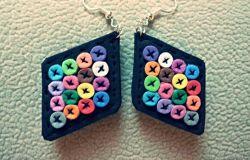 Kolorowe kolczyki Handmade