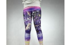 "Legginsy ""City in Purple"""