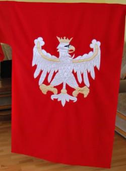 Hand made Flaga Polski historyczna