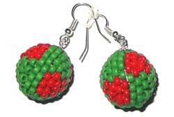 """Biżuteria """"Zielone serduszka"""" (przywieszka & kolczyki) [40+16=50]"""
