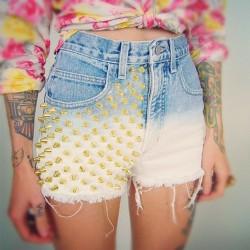 dyed shorts DIY instrukcja + inspiracje