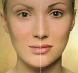 makijaż permanentny- zabieg, dzień 1