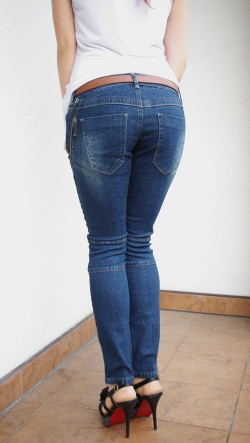 oryginalne jeansy ZIP
