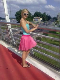 różowo-miętowo