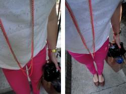 Zwykły outfit - neon necklace