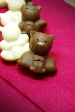 Słodkie misie - czekoladki z kremem kanapkowym
