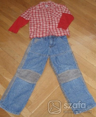Komplety Oryginalne jeansy + koszula