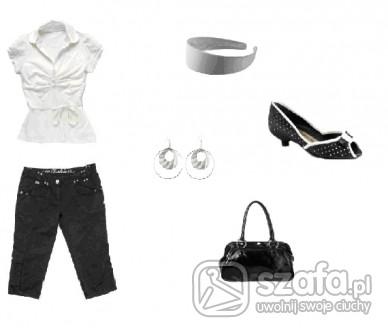 Eleganckie czerń, biel i srebro...