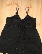Śliczna czarna tunika na ramiączkach !