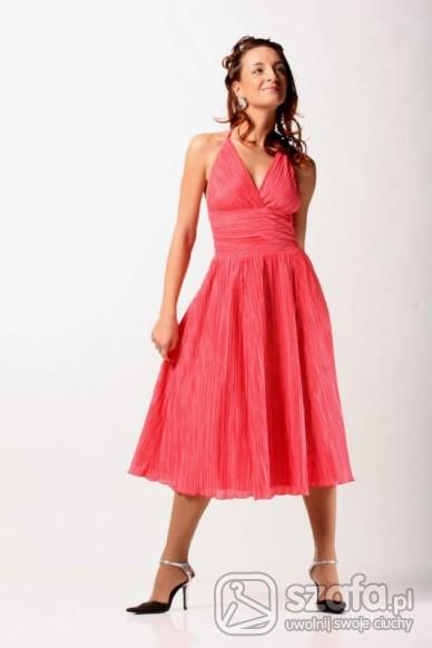 Romantyczne Malinowa sukienka