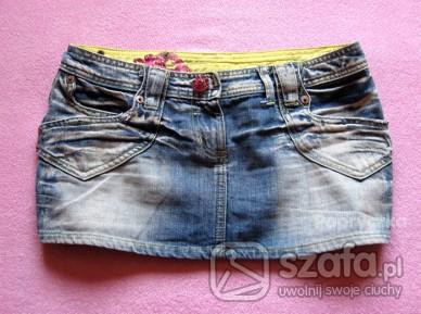 Cudna jeansowa wycierana mini ML RIVER ISLAND
