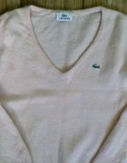 Sweterek brzoskwiniowy Lacoste uroczy