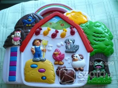 Zabawki Fajna chatka z zwierzętamigrająca