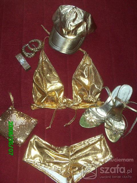 Imprezowe Komplet złotej plażowiczki