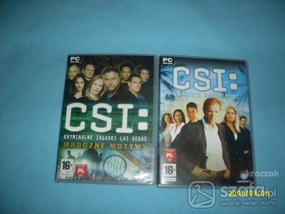Pozostałe Dwie gry PC CSI