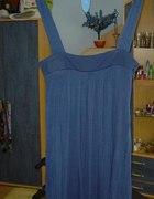 Granatowa luźna sukienka