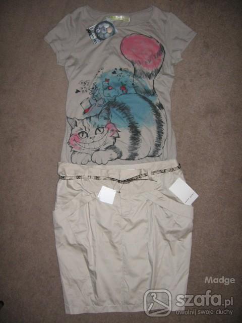 Mój styl Zara tulip skirt plus Zara T shirt