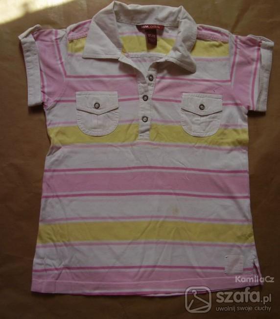Koszulki, podkoszulki H M ŚLICZNA DZIEWCZĘCA POLÓWKA ROZ 134