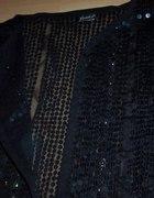 Czarne cekinowe bolerko ręcznie robione