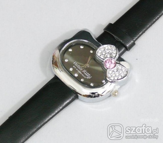 Zegarek Hello Kitty czarny