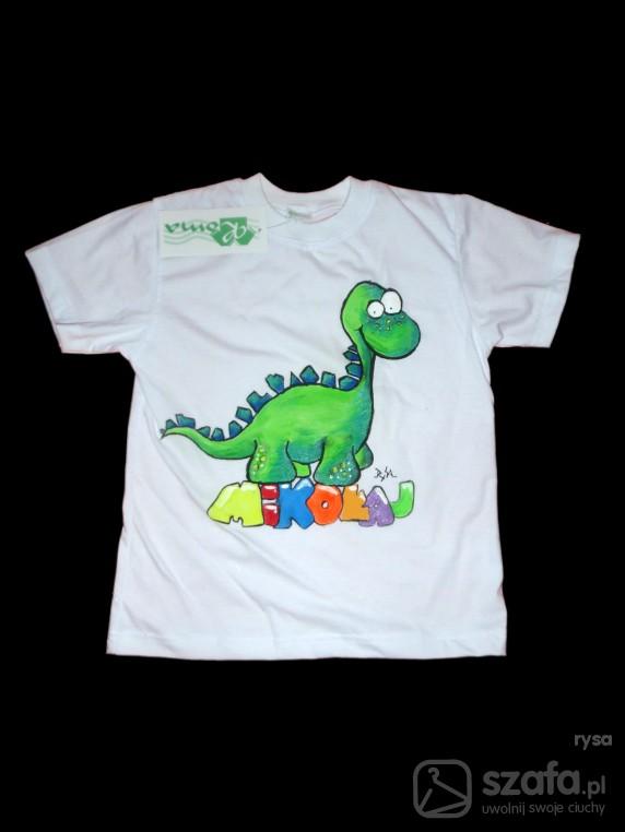 Koszulki, podkoszulki mikołajkowy dinozaur
